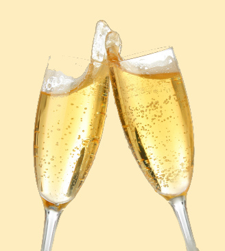 photo of a Champagne toast