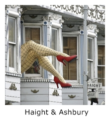 photo of Haight & Ashbury intersection in San Francisco
