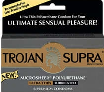 photo of Trojan Supra polyurethane condoms