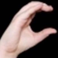 photo of fingers in the C grip position
