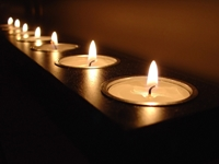 picture of candles setting a sensual atmosphere