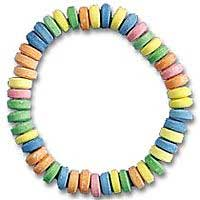 photo of a candy necklace