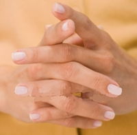 photo of fingers clasped together in the church steeple position