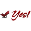 picture of a yes box with a red check
