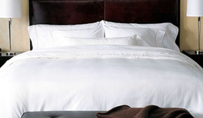 photo of a luxury hotel bed