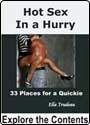 picture of Hot Sex in a Hurry 33 Places for a Quickie cover