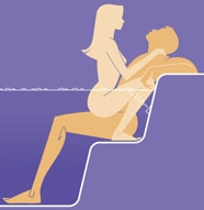 picture of a man and woman having sex in a Jacuzzi