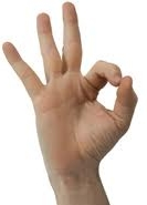 photo of fingers making the okay sign