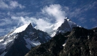 photo of mountain peaks