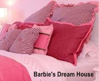 photo of a pink bed