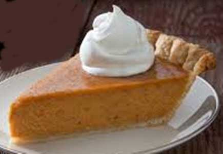 photo of a plate of pumpkin pie