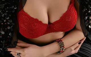 picture of a sexy red bra