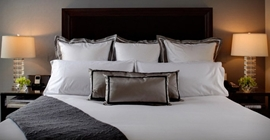 photo of luxury hotel bed