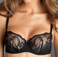 photo of a lacy black bra