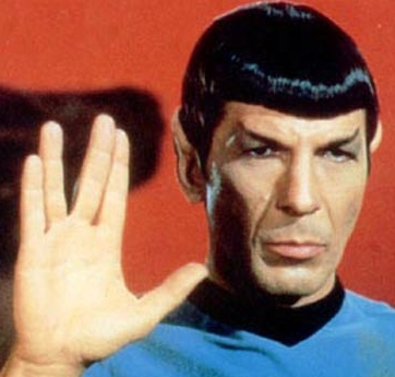 photo of Spock making his hand sign