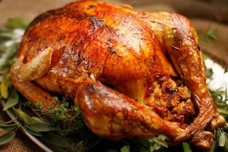 photo of a plate of turkey