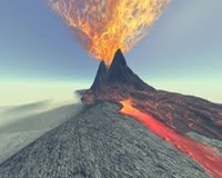 picture of an erupting volcano