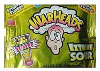 photo of a package of warheads candy